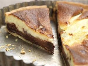 Tarte chocolat et poires