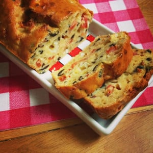 Cake aux olives sans gluten