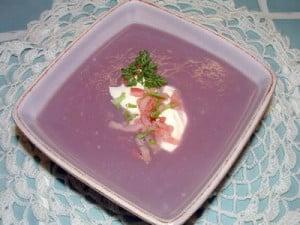 Soupe froide de chou rouge - gaspacho avec thermomix