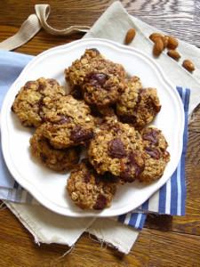 Cookies chocolat amandes et noisettes croustillants avec thermomix