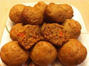 Muffins aux carottes avec thermomix