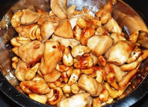 Poulet aux noix de cajou et champignons avec cookeo