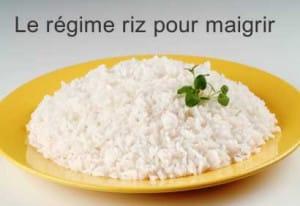 le regime riz