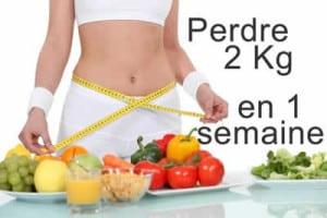 menus pour perdre 2 kilos en une semaine