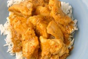 Poulet au yaourt et curry