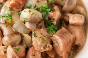 Recette Veau aux champignons avec Cookeo
