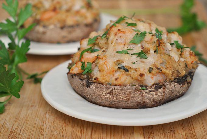 Recette Champignons farcis aux crevettes cookeo