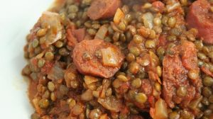 Recette Lentilles bolognaise au chorizo Cookeo
