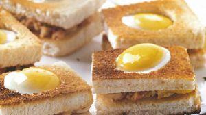 Toasts oeuf de caille et rillettes de crabe thermomix