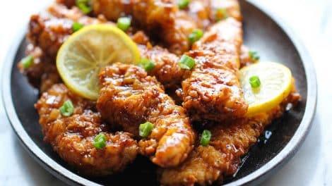 Nuggets de poulet citronné et sauce au citron thermomix