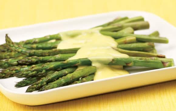 Recette Asperges et sauce vertes
