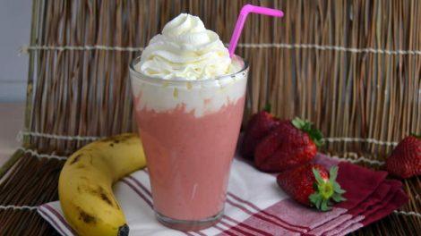 Milkshake banane fraise thermomix