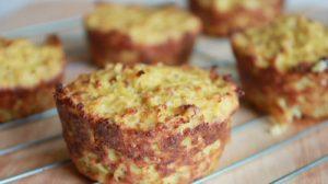 Muffins courgettes et saumon au Thermomix
