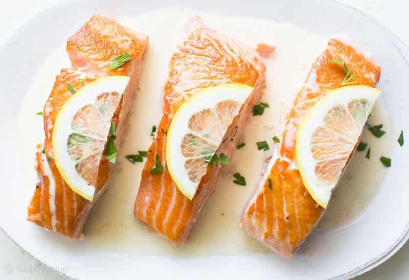Saumon et petits légumes sauce citron légère avec thermomix