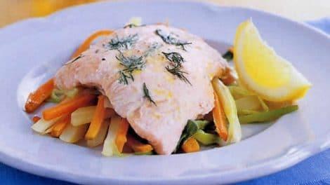 Papillote de saumon et légumes au thermomix