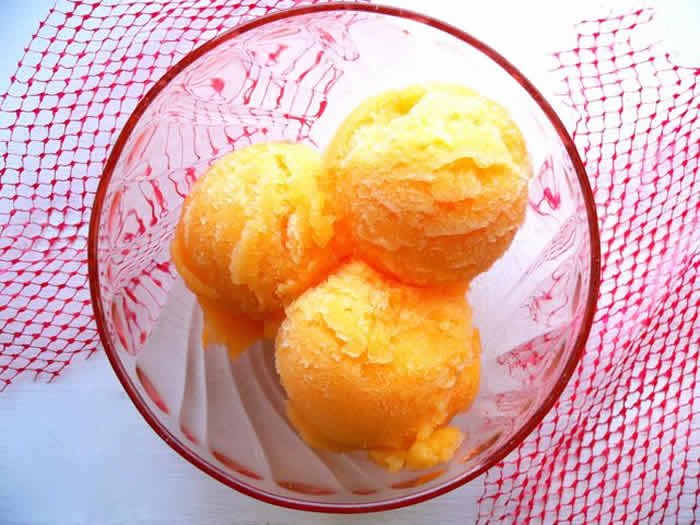 Sorbet aux clementines avec thermomix