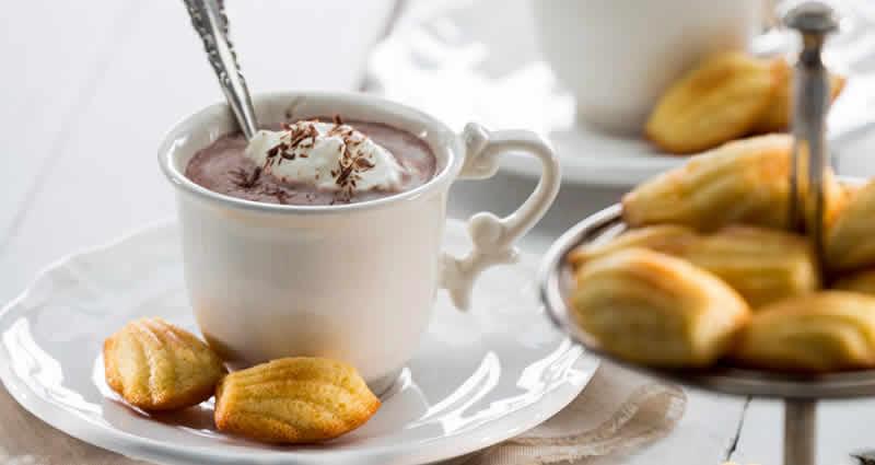 Mini madeleine coeur en chocolat au thermomix