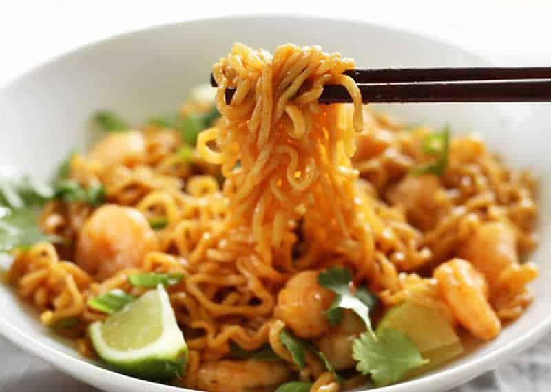 Nouilles chinoises aux crevettes avec thermomix