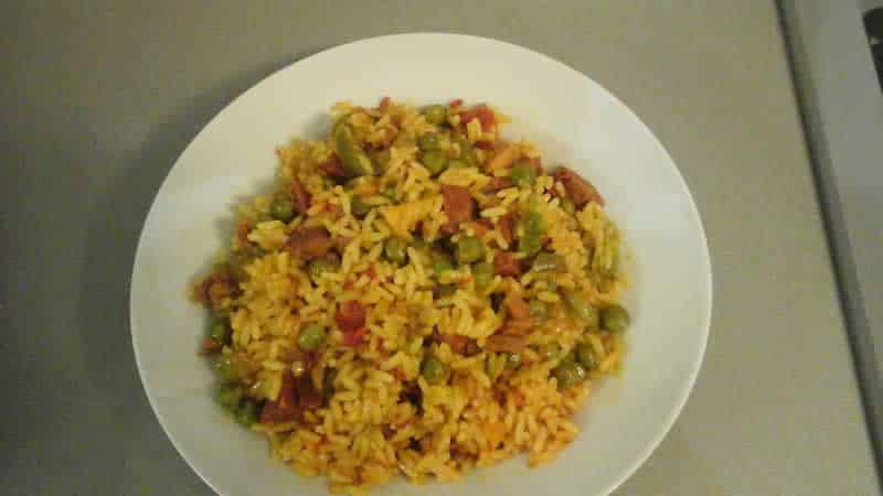 Paella express chorizo et lardons au cookeo