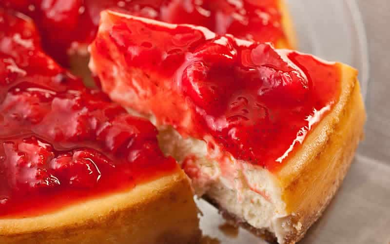 Cheesecake à la fraise avec thermomix