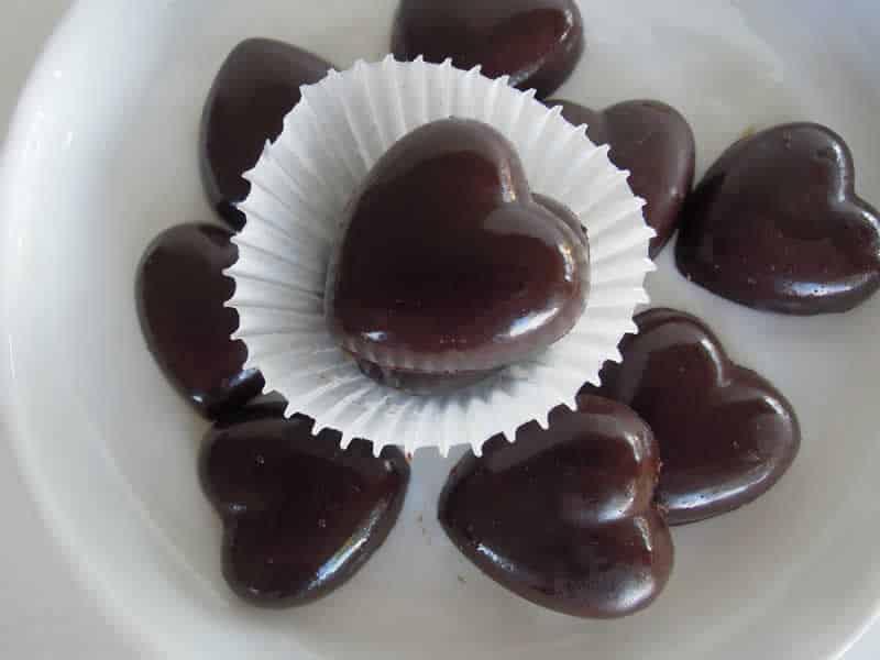 Petits coeurs au chocolat avec thermomix