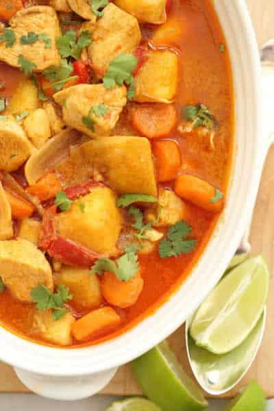 Poulet aux carottes sauce curry avec thermomix