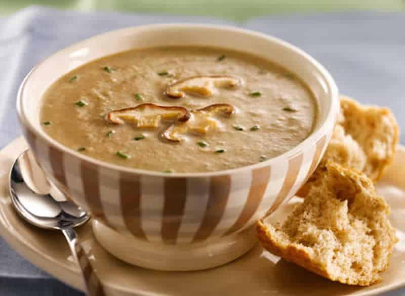 Soupe Aux Poireaux et aux Champignons avec thermomix
