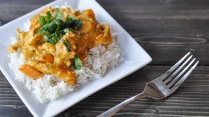 Curry de dinde au lait de coco avec thermomix
