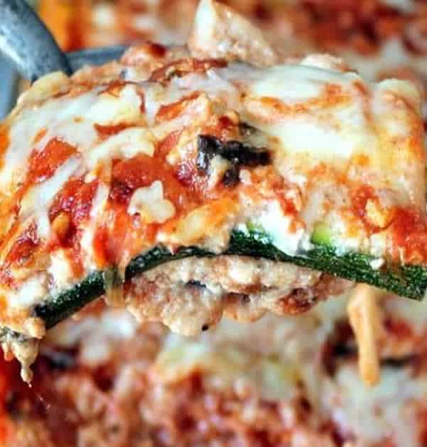 Lasagnes courgettes tomate poulet recette WW