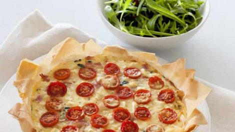 Quiche au jambon et tomates recette WW