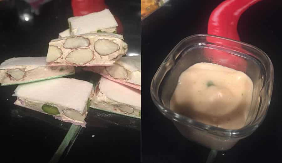 Nougat et crème dessert au nougat au thermomix