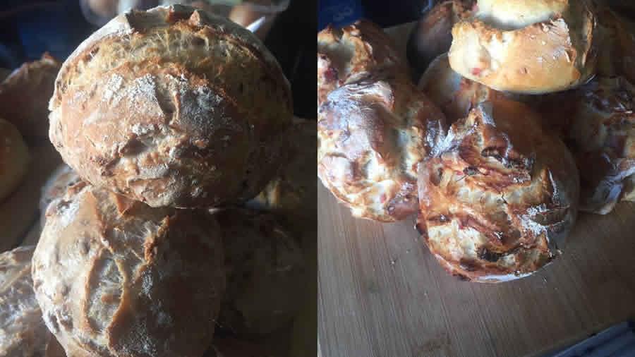 Petits pains aux noix et aux lardons au Thermomix