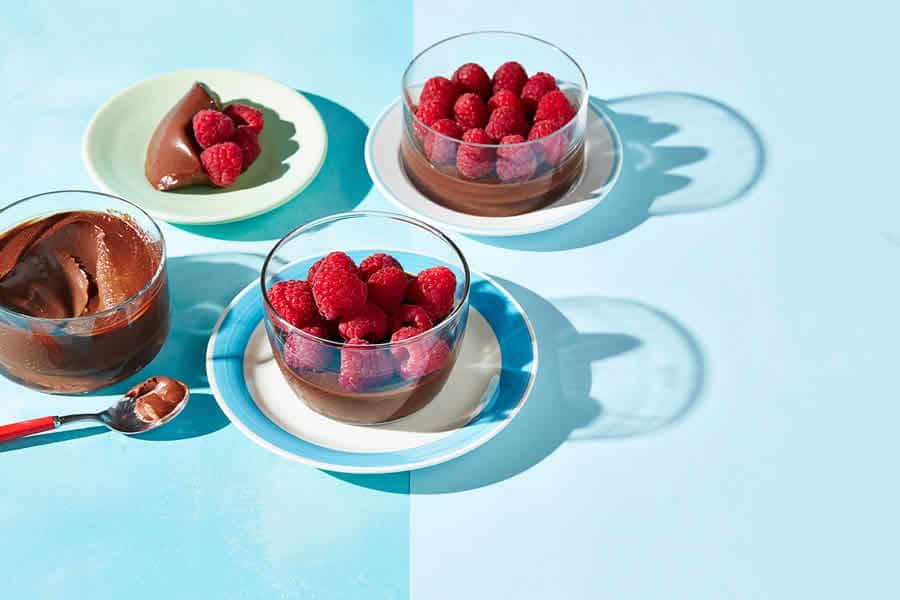 Crème chocolat framboise au thermomix