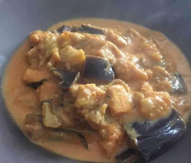 Korma d'aubergine au Cookeo