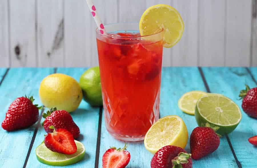 Limonade aux fraises avec thermomix