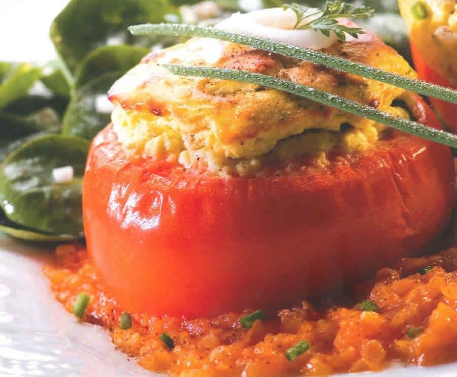 Tomates soufflées à la ricotta avec thermomix