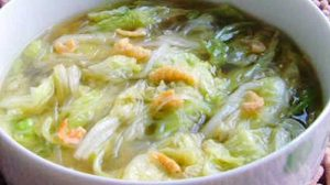 Soupe de chou chinois aux crevettes avec thermomix