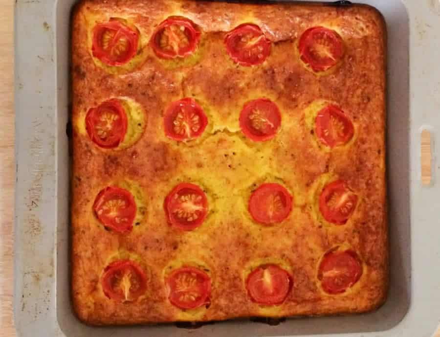 Clafoutis aux tomates et courgettes avec thermomix