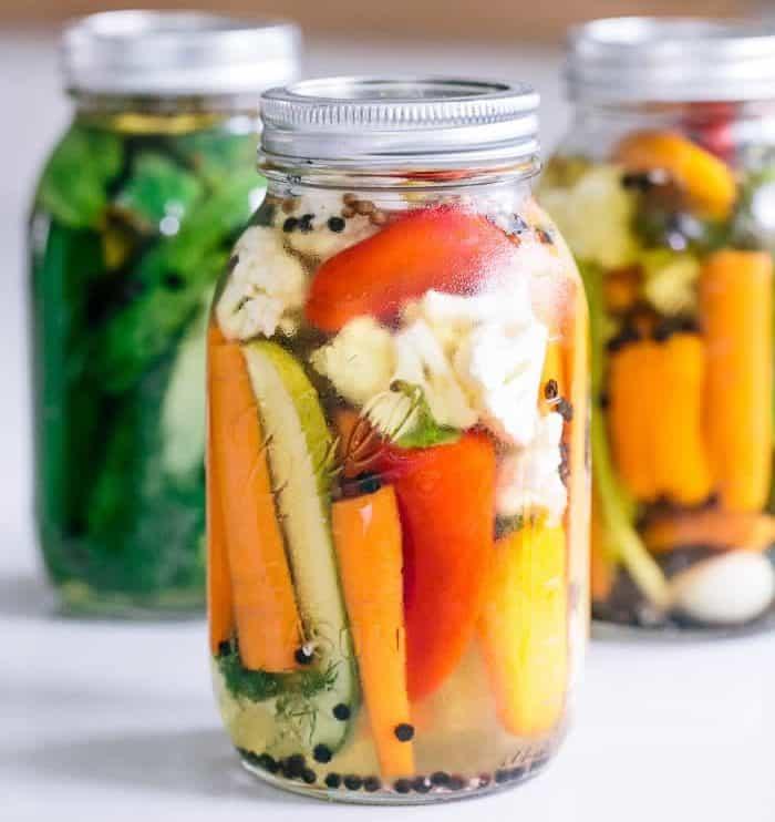 Pickles de légumes au thermomix