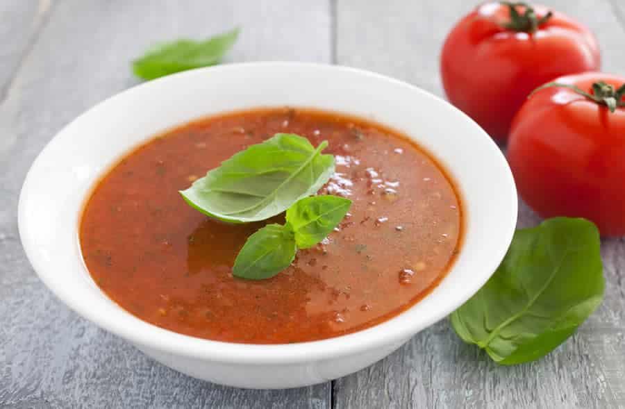 Potage à la tomate et basilic au thermomix