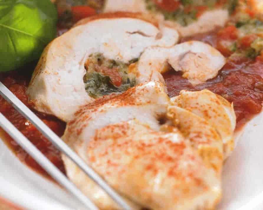 Poulet Farcis et petits légumes au thermomix