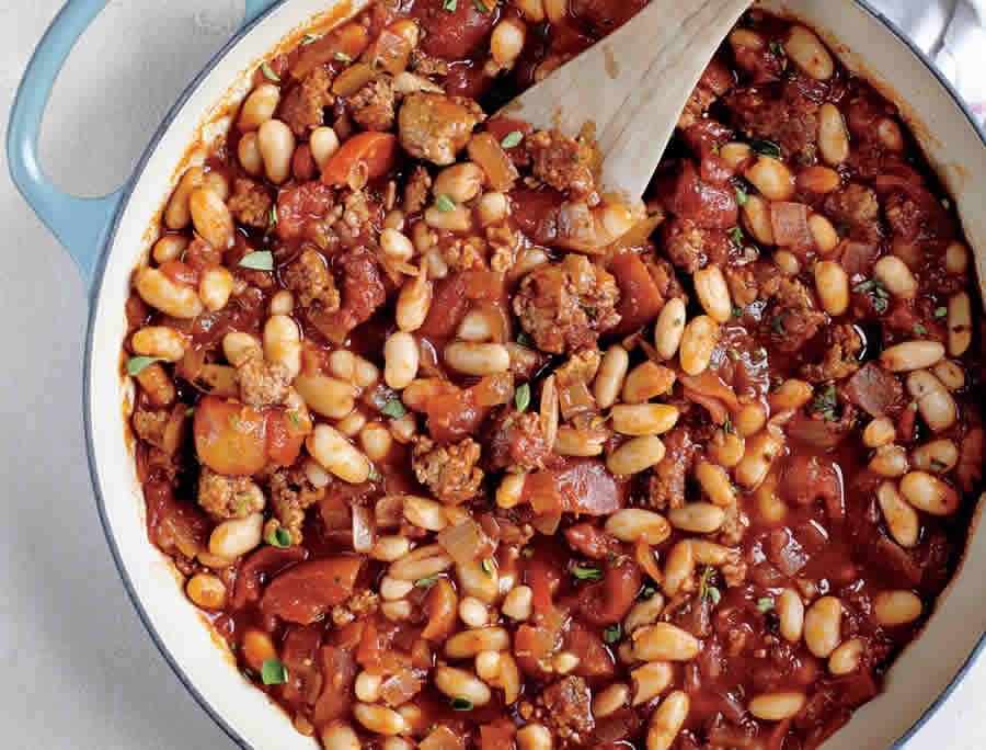 Ragoûts de haricots blancs à la tomate avec thermomix
