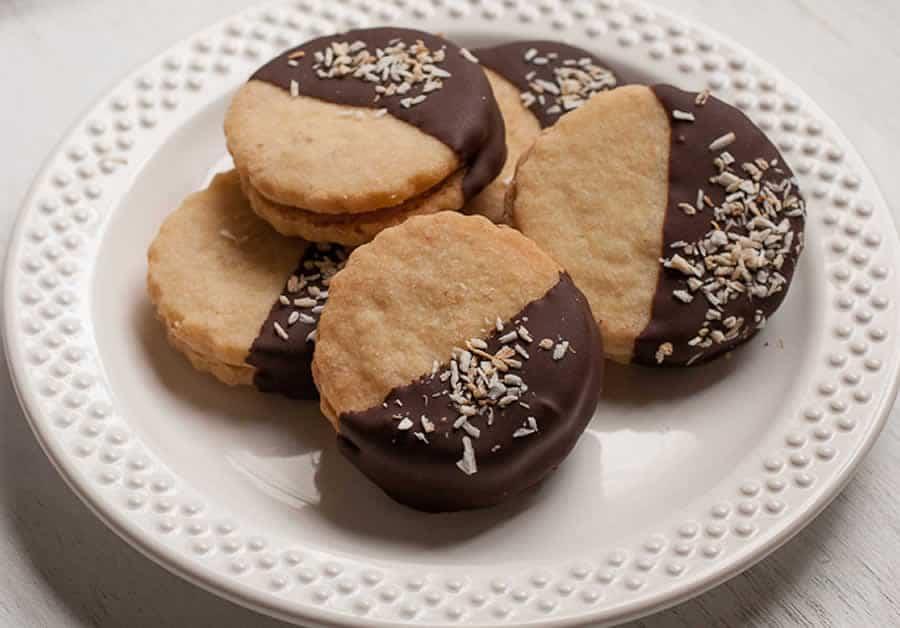 Sablés aux noix de coco et chocolat thermomix