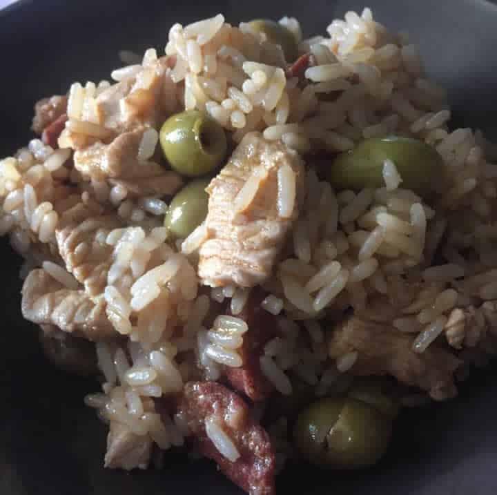 Sauté de dinde de Lisbonne et son riz au Cookeo