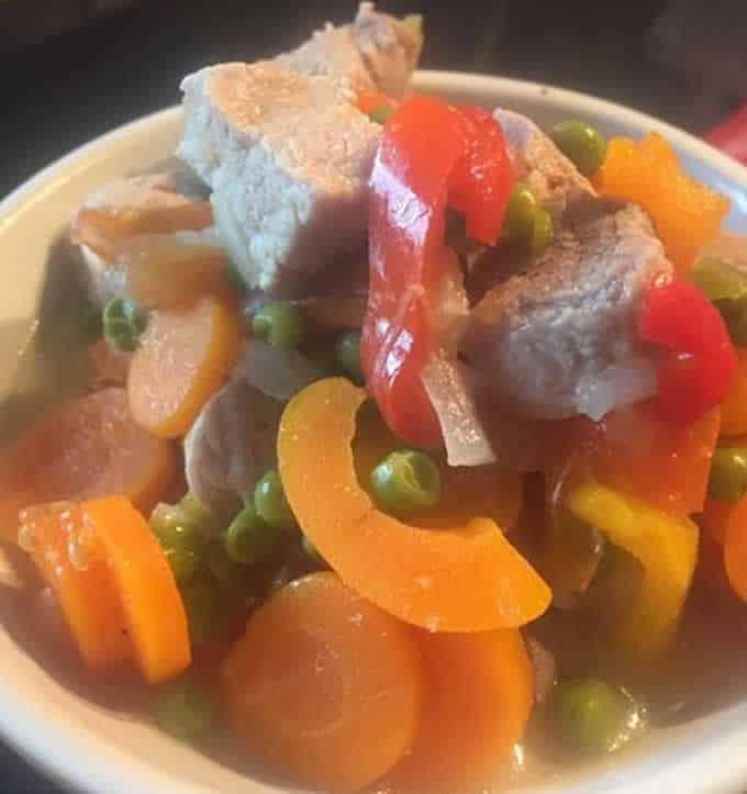 Sauté de porc et ses légumes facile au Cookeo