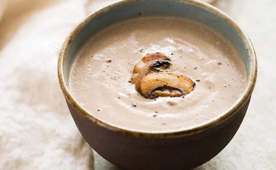 Soupe aux champignons frais au cookeo