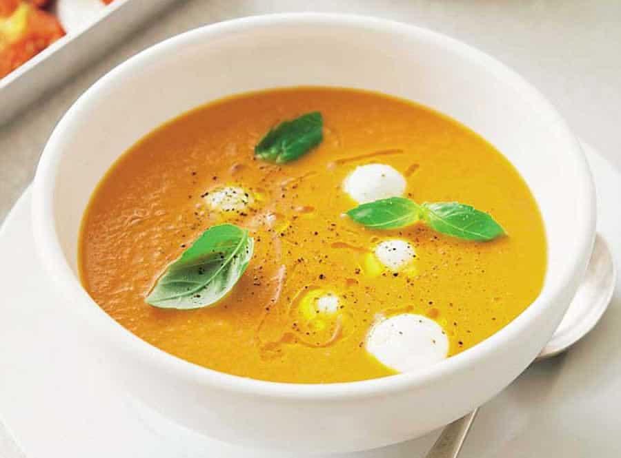Soupe carottes mozzarella au cookeo