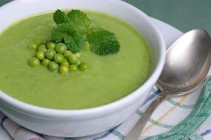 Soupe courgettes et petits pois au cookeo