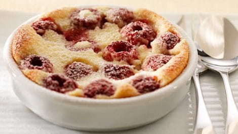 Clafoutis aux framboises recette weight watchers