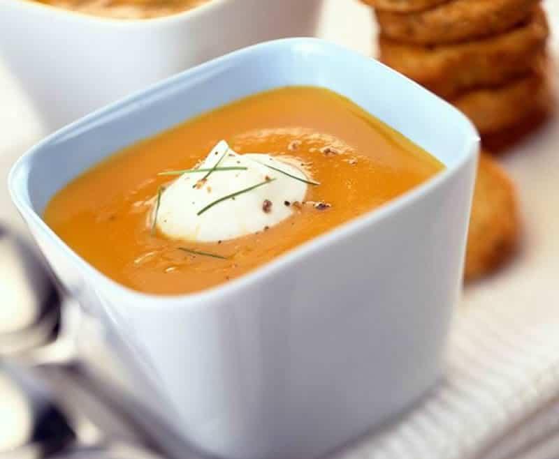 Soupe de carottes à la normande avec thermomix